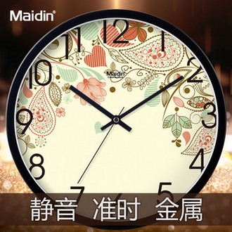 麦丁 欧式静音客厅挂钟钟 8英寸