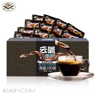 云潞 纯速溶黑咖啡粉 100袋