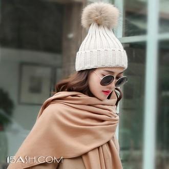 松顿 秋冬季韩版保暖百搭针织帽