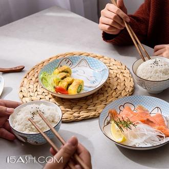 釉下彩 招财猫日式碗碟
