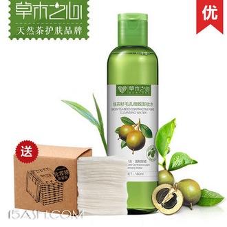 草木之心 绿茶籽毛孔细致卸妆水180ml