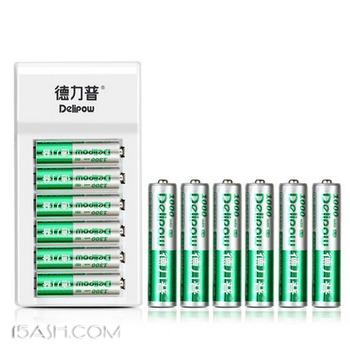 德力普 充电电池套装 1充+12电