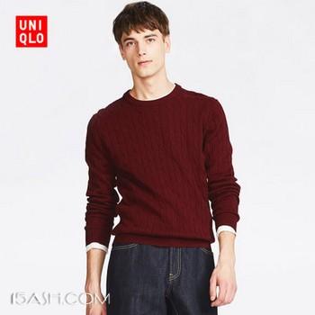 UNIQLO 优衣库 400641 男士纽花针织衫