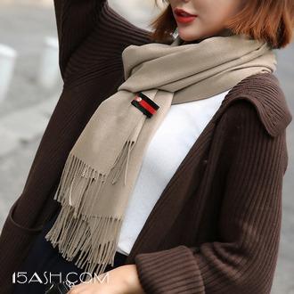 上海故事 同款长款加厚仿羊绒围巾