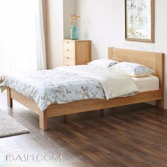 源氏木语 现代简约白橡木床