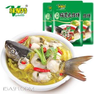 味聚特 火锅底料 老坛酸菜鱼调料