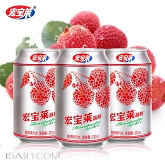 宏宝莱 荔枝味汽水330ml*12罐装