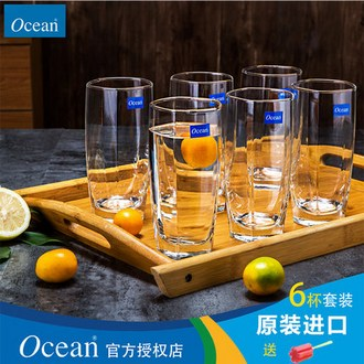 Ocean/鸥欣 家用 透明玻璃水杯6个