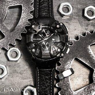 意大利潮牌 POLICE 酷黑朋克风石 男士石英手表