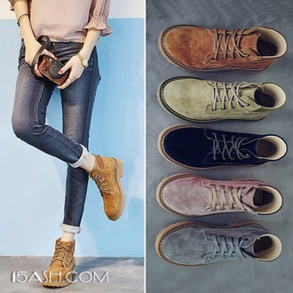 艾美其 复古马丁靴女