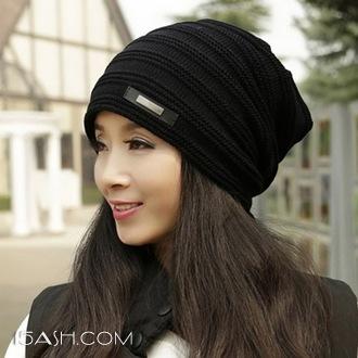 黛莎 女子加绒韩版百搭针织毛线帽