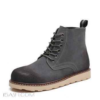 G·V·Z 男士加绒保暖马丁靴