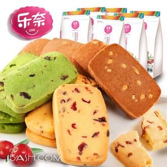 乐奈 蔓越莓曲奇饼干 5口味组合590g