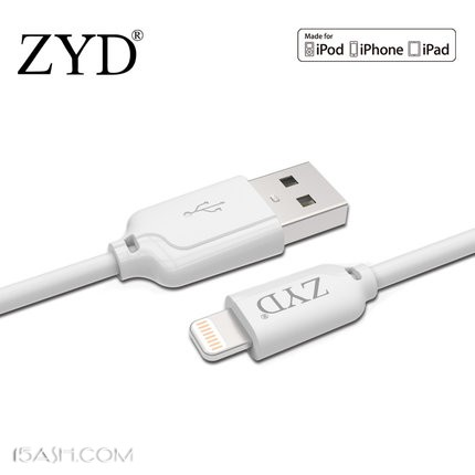 ZYD 苹果MFi认证数据线0.2M 券后15.9元包邮