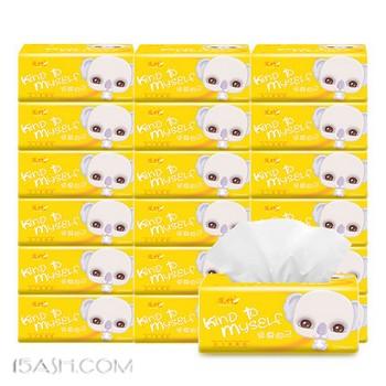 凤竹纯原木抽纸24包抽取式面巾纸