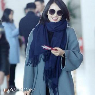冬季男女长款羊毛羊绒围巾