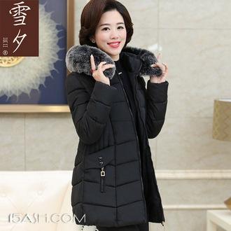 雪夕 中老年人修身棉袄女冬季加厚外套