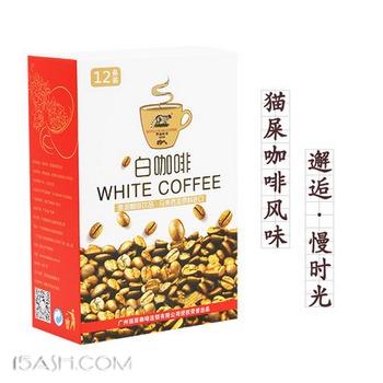 kopiluwak 猫屎咖啡风味 速溶白咖啡粉25g*12条