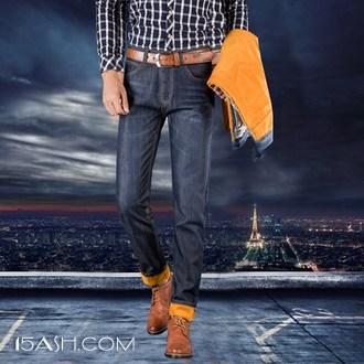 1号牛仔 男士加绒牛仔裤