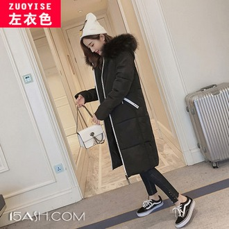 左衣色 chic冬季中长款韩版棉袄外套