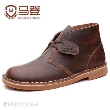 Maden/马登中帮沙漠靴子真皮靴短靴英伦风高帮男鞋