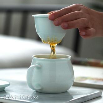 久联陶瓷 影青手工泡泡杯