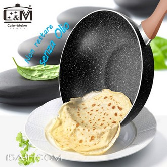 卡特马克 双面麦饭石不粘炒锅30cm