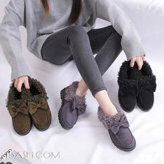 ZhQbirds 加厚雪地靴毛毛鞋女鞋