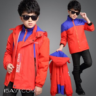 童依源 儿童冲锋衣 中大童棉衣三合一两件套