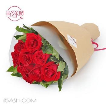 朵伶朵俐 情人礼物玫瑰花束9枝