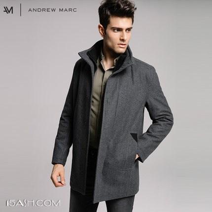 Andrew Marc 安德鲁马克 男士 中长款毛呢大衣
