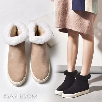 柔美名媛 韩版中筒雪地靴女加绒棉鞋