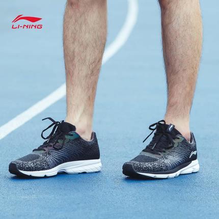 李宁 光年反光耐磨一体织跑步鞋