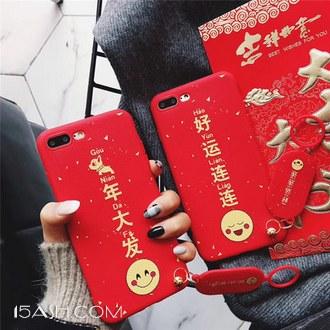 创造者 新年文字 红色 OPPO全系硅胶手机壳