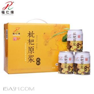 福仁缘 枇杷原浆 果汁饮料整箱24罐