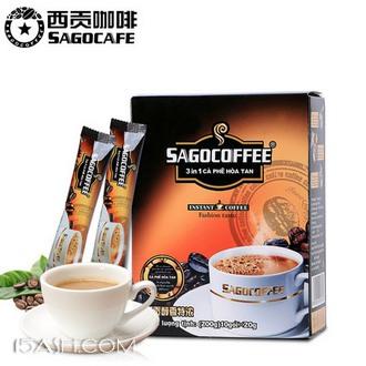 越南进口西贡咖啡200g 10条盒装 券后9.8包邮