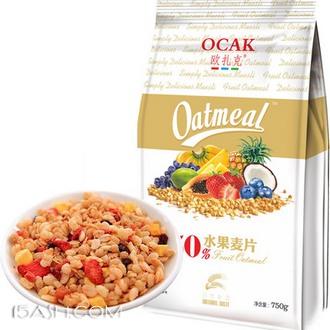 欧扎克 50%纯水果即食燕麦750g 券后29.8元包邮