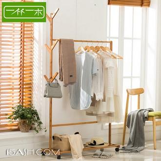 一竹一木 简易落地卧室挂衣架
