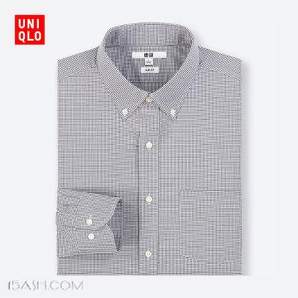 优衣库精纺弹力修身格子衬衫(长袖) 401827