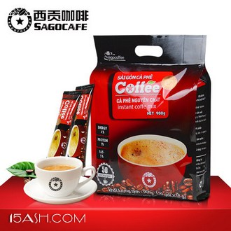 sagocoffee 西贡咖啡 越南进口原味咖啡18g*50条