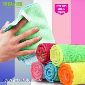 汉世刘家 微细纤维双面吸水抹布洗碗布10条装