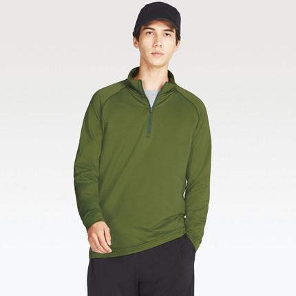 UNIQLO优衣库 DRY-EX warm 男款半拉链T恤