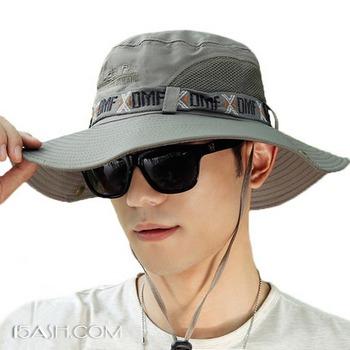 男夏渔夫帽遮阳帽户外帽子防紫外线