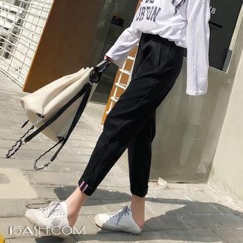 星剧社 灯芯绒女裤哈伦裤