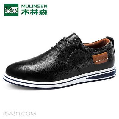 木林森 男式休闲皮鞋 Q317603