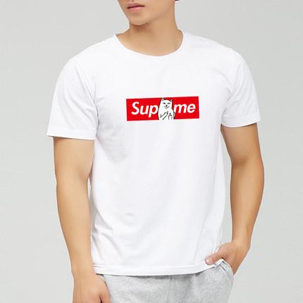 豫牛 短袖T恤男士打底衫纯棉圆领