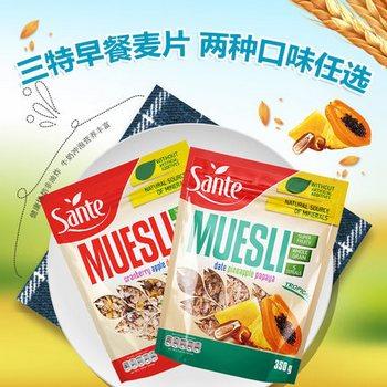 波兰 三特 混合谷物水果燕麦片350g*2袋