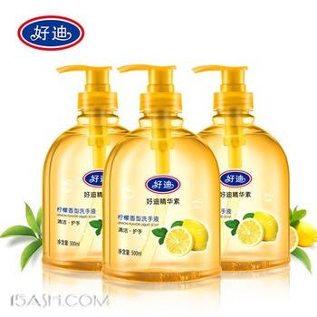 好迪 洗手液套装柠檬清香型500g*3瓶