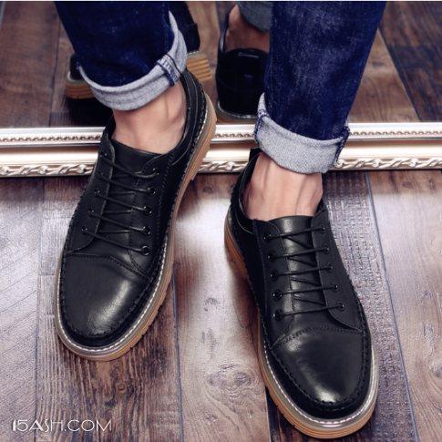 男款休闲皮鞋,舒适透气不板脚