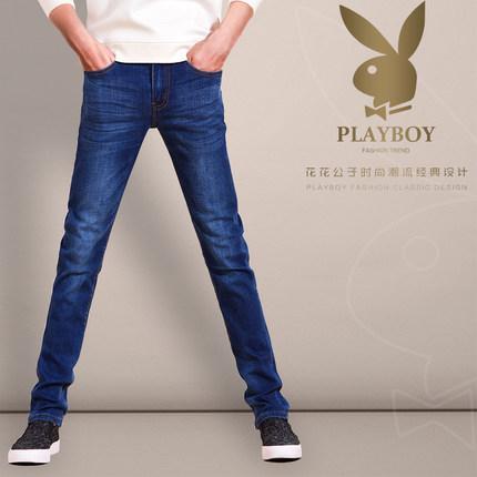 花花公子 男夏季薄款牛仔裤